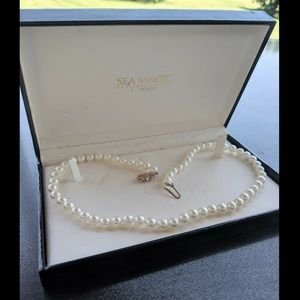 Mikimoto 18 inch 7mm 14k clasp necklace w box